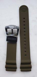 Seiko Z22 kaki zacht silcon rubberen band (sluiting zwart)